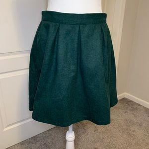 NWT. ModCloth Pleated Skirt. Size 14. Green